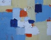 Original Abstract Painting, modern, contemporary art, home decor, interior design,blue,orange, cream