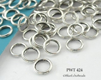 6mm Pewter Jump Ring, Connector, Closed Link (PWT 424) 75 pcs BlueEchoBeads