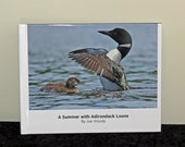 Loon Photo Book - A Summer with Adirondack Loons, Photos showing adult loons caring for their chicks during the first four months of life.