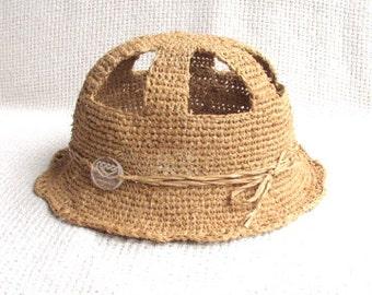 Crochet Sun Cloche Hat For Toddler Girl 2T-3T - Futuristic Design