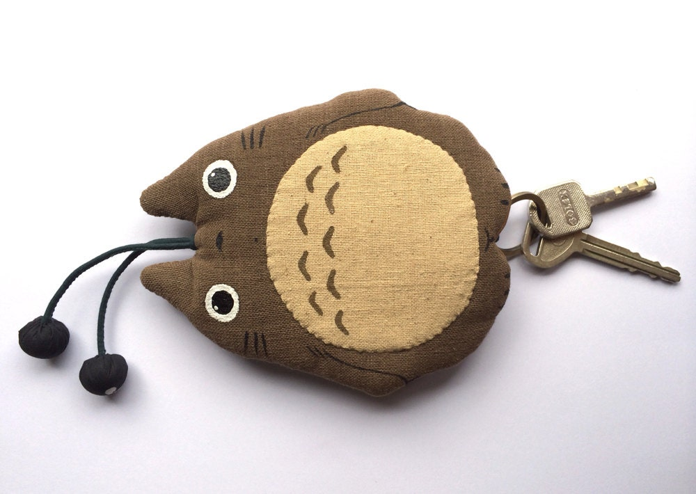 totoro japanese key cover absolutely natural handloom fabric. Black Bedroom Furniture Sets. Home Design Ideas