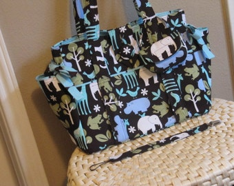 On Sale DeaniesDuffles Sophia Diaper Bag or Tote with Matching Paci Pouch and Clip