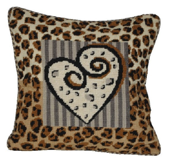 Animal Print Needlepoint Pillows : Needlepoint pattern LEOPARD - animal print,cross stitch,tapestry,embroidery,needlepoint pillow ...