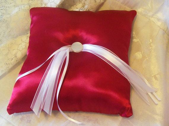 Ring Bearer Pillow in Red Satin