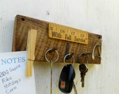 Key rack note holder on reclaimed wood, With Full Service