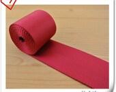 5 yards of 2 inch (5cm) Heavy weight Nylon webbing Red ZD58