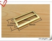 2 inch (inner size) Antique Brass Brush alloying rectangle sliders strap adjuster  10pcs 3mm thickness U26