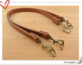 Pair of purse handle  PU Leather purse handles for Bag and purse  strap 23.5 inch 0.75 inch ( 62cmx1.8cm)  brown Z47B