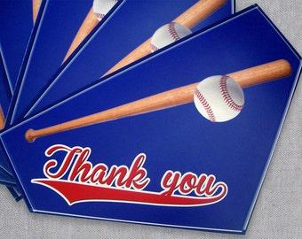 Baseball Thank You Card - Baseball Bat Homeplate - Male Thank You Card - Teachers Appreciation Day - Teacher Thank You Card - Made to Order