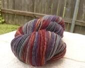 Handspun Yarn Sock Yarn 'Anemone' Cheviot wool 360 yds.