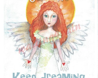 Customized Angel Painting with Your Words of Love (print)