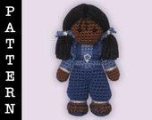 Crochet Pattern - Amigurumi Indigo Doll
