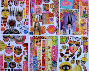 Collage Sheets - set F