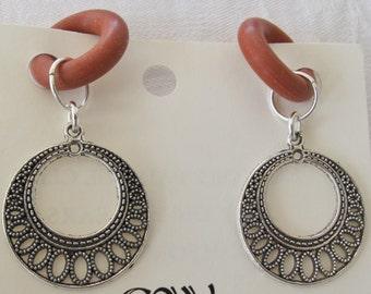 Pierceless Rubber Earrings Silver Dangle pr