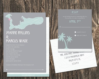 Cayman Islands Wedding Invitation Set - Cayman Islands Destination Wedding