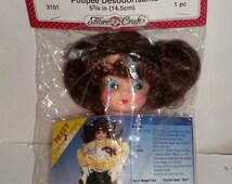 Vintage Miss Muffet Air Freshener Doll Form - Air Freshener Doll with Crochet Pattern - Fibre Craft 3101 - 1992 Air Freshener Doll Body