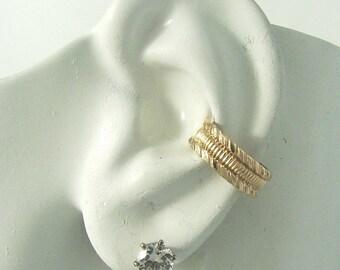 Ear Cuff Gold Non-pierced Cartilage Wrap Earring Fake Conch No Piercing Cuff Earring Simple Earcuff Cuff Earring Faux Pierced Harley E12GF