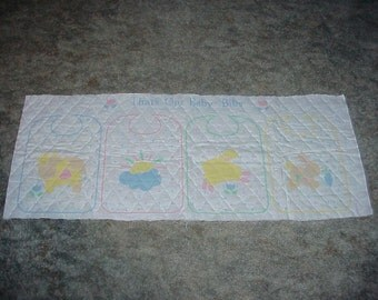 Preprinted--BABY Bibs--Quilted--Fabric PANEL--Baby BIBS--To Make--Will Make 4 Bibs