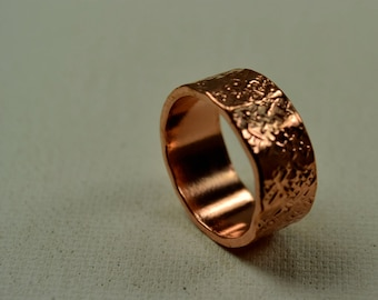 Hammered, Copper RIng