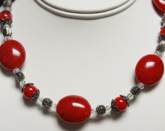 Red Acrylic Necklace. Listing 195074605