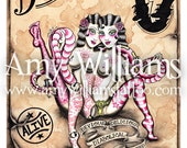 Siamese Twins Tattoo Art A4 Print