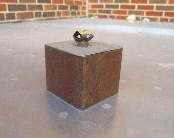 Metal Keepsake Box, Industrial Decor, trinket box stash box, bachelor pad decor, gift box