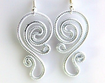 Spiral Waves Dangle Earrings