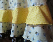 Full Triple Ruffle APRON in Honey Bee Print