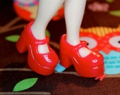 Blythe Cherry Red Platform Mary Jane Doll shoes