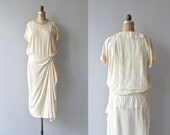 Taitbout wedding dress • 1920s wedding dress • cream silk and lace 20s dress