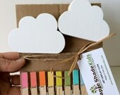 Cloud Art Display Clips, Rainbow Clips, Kids Decor, Cloud wall art, eco friendly