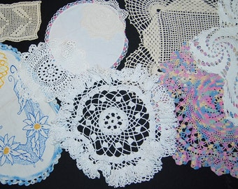 Crochet Table Top -A Touch of Grannies Hands-Ten pieces
