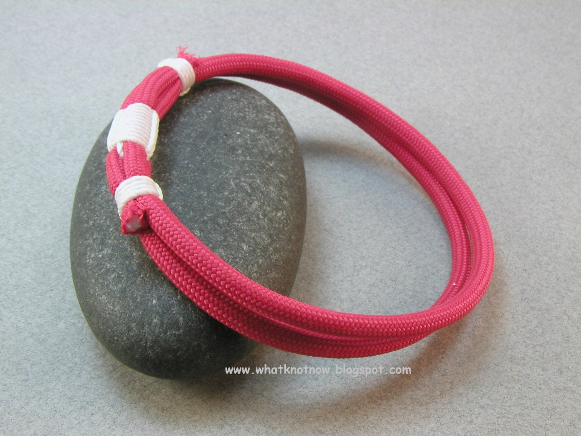 red double loop paracord bracelet rope bracelet with whipping