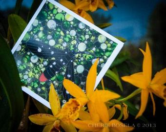 Blank Greeting Card - Oleander Moth mosaic