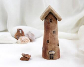 Rustic House of tiny fairies - Hand Made Ceramic Eco-Friendly Home Decor by studio Vishnya