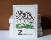 Z is for Zebra Flashcards - 3x4