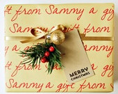 Wrapping Paper - Personalized - Holiday Gift Wrap - Gift Wrap Sheets