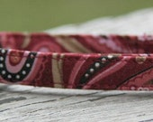 Paisley Pink Girl  Cat collar