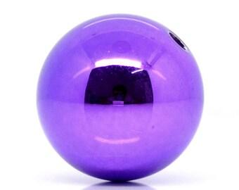 Christmas Ball Beads - Purple - 20mm - set of 6