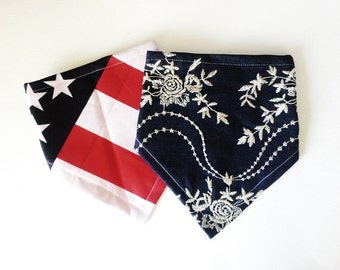 American Flag Bandana Bib for Baby