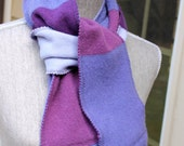 Recycled cashmere scarf -- purple extravaganza -- grape, orchid, lavender