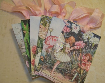 Fairy Tags Summer Fairies Tags - Vintage Style - Cicely Mary Barker Fairy Tags - Set of 6