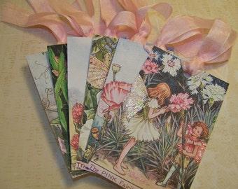 Fairy Tags Summer Fairies Tags - Vintage Style - Cicely Mary Barker Fairy Tags - Set of 6