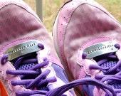Shoe Tags - Shoelace Plates - Runner Gift - Sportsteam Gift - Marathon Runner Gift - Unique Athlete's Gift For Fitness Motivation