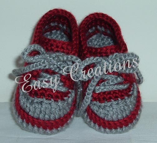 CROCHET PATTERN Baby Tennis Shoes baseball sneakers converse