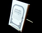 SALE! 1/2 OFF - 2014 Letterpress Desktop Calendar REFILL