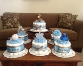 custom order only It's a boy baby Shower Centerpieces bundt diaper cakes different colors and sizes available too