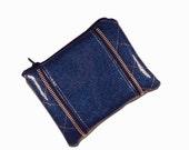 Retro Inspired Blue Coin Purse