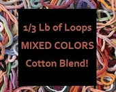 COTTON BLEND LOOPS - Potholder Loops With Patterns / 1/3 Pound Bag / Loom Weaving