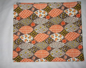Retro vintage 60s or 70s Fabric Material Polyester Single Knit  2 yards.